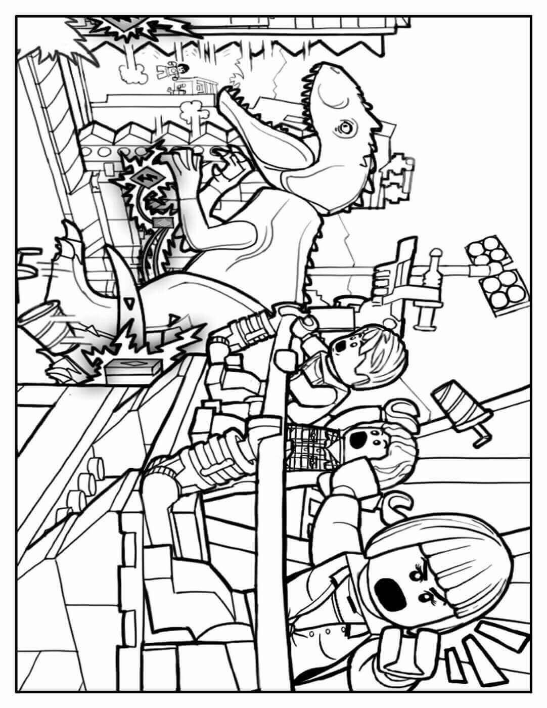 Lego Jurassic World Coloring Sheet