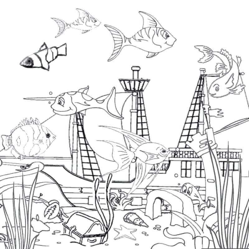 Ocean Coloring Pictures