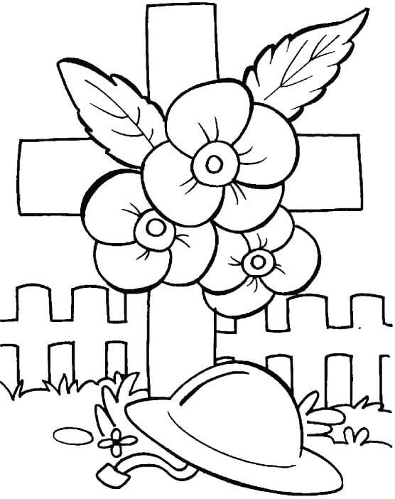 Poppy Day Coloring Pages