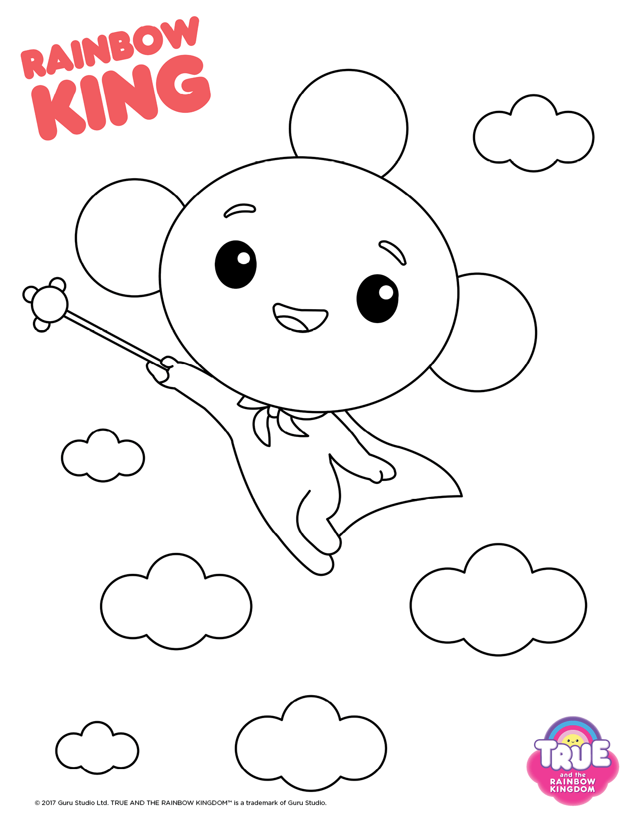 Rainbow King from True and The Rainbow Kingdom Coloring Pages