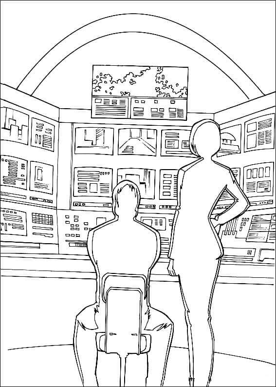 Scott Lang And Hope Pym Coloring Page