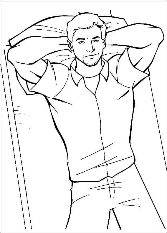 Scott Lang Coloring Page