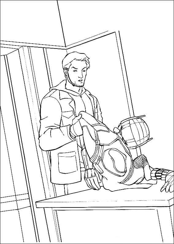 Scott Lang Coloring Pages