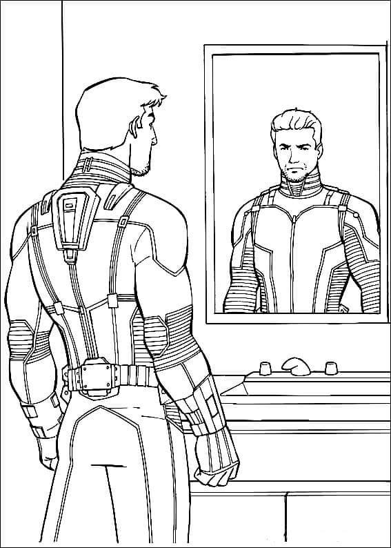 Scott Lang In Ant Man Suit Coloring Page