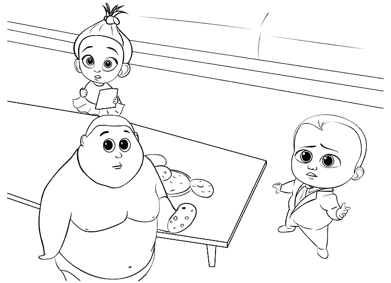 Staci Jimbo And The Boss Baby Back In Business Coloring Pages To Print