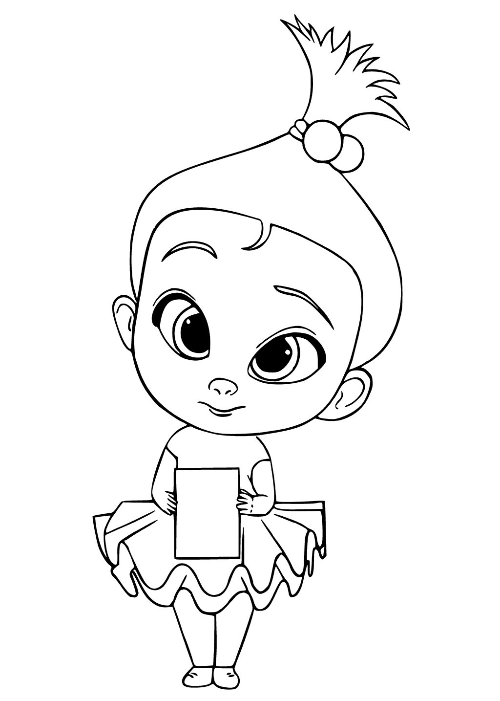 Staci The Boss Baby Coloring Page