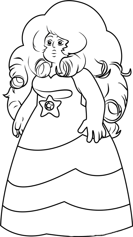 Steven Universe Coloring Images Rose Quartz