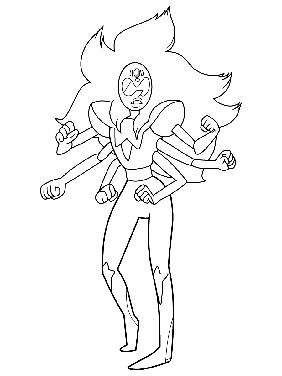 Steven Universe Colouring Pages Alexandrite