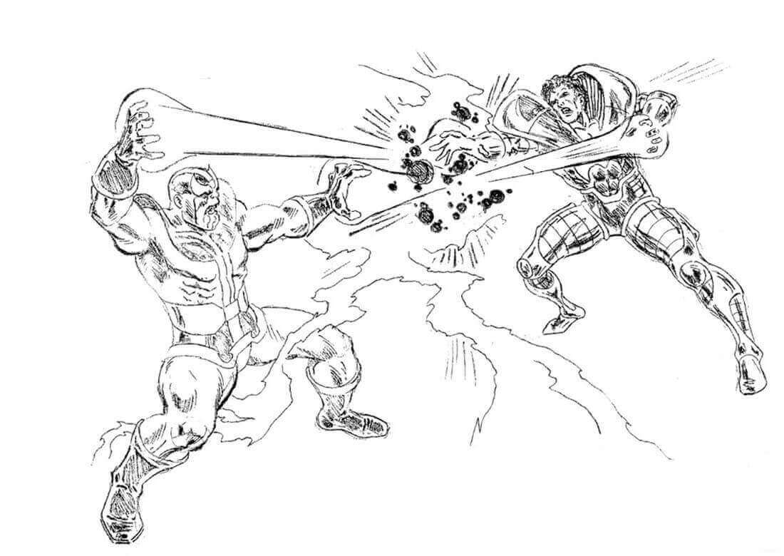 Superhero Thanos Coloring Pages: Avengers Thanos Coloring Pages