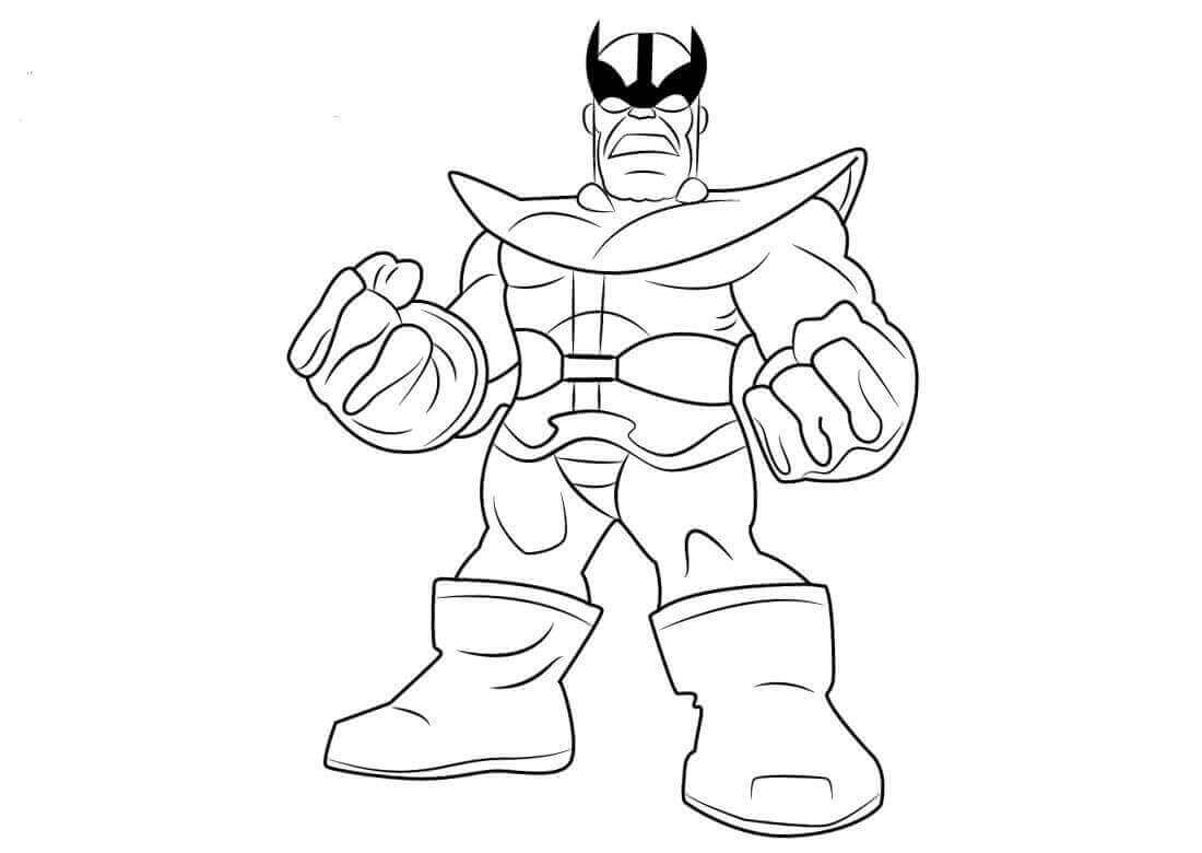 Superhero Thanos Coloring Pages: Marvel Superheroes Coloring Pages