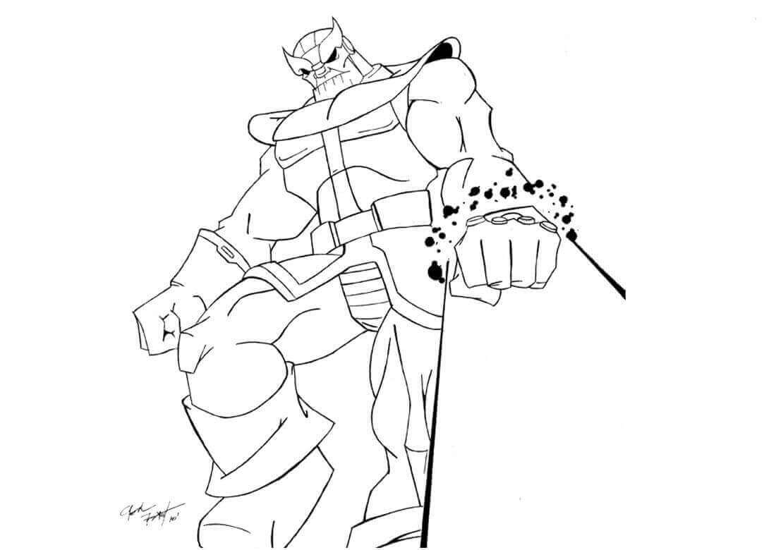 Thanos Coloring Pictures