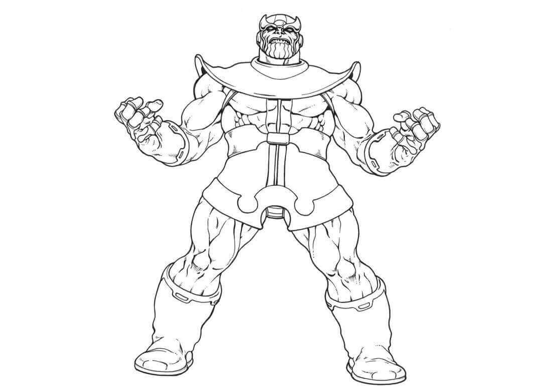 Thanos Coloring Sheets