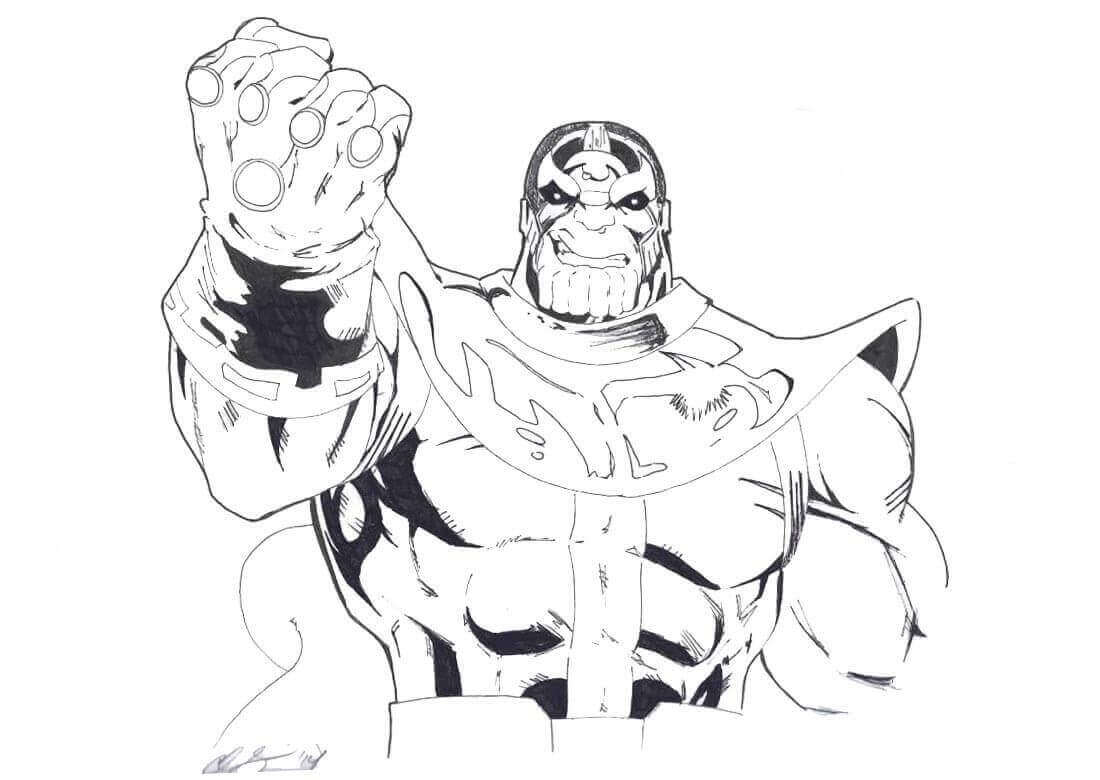 Thanos Gauntlet Coloring Page