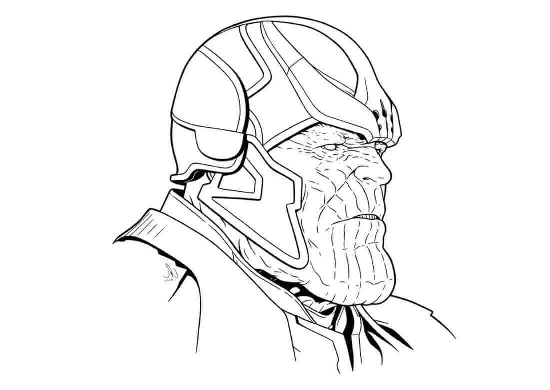 Thanos Mad Titan Coloring Pages
