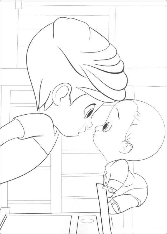 The Boss Baby Coloring Pages Printable