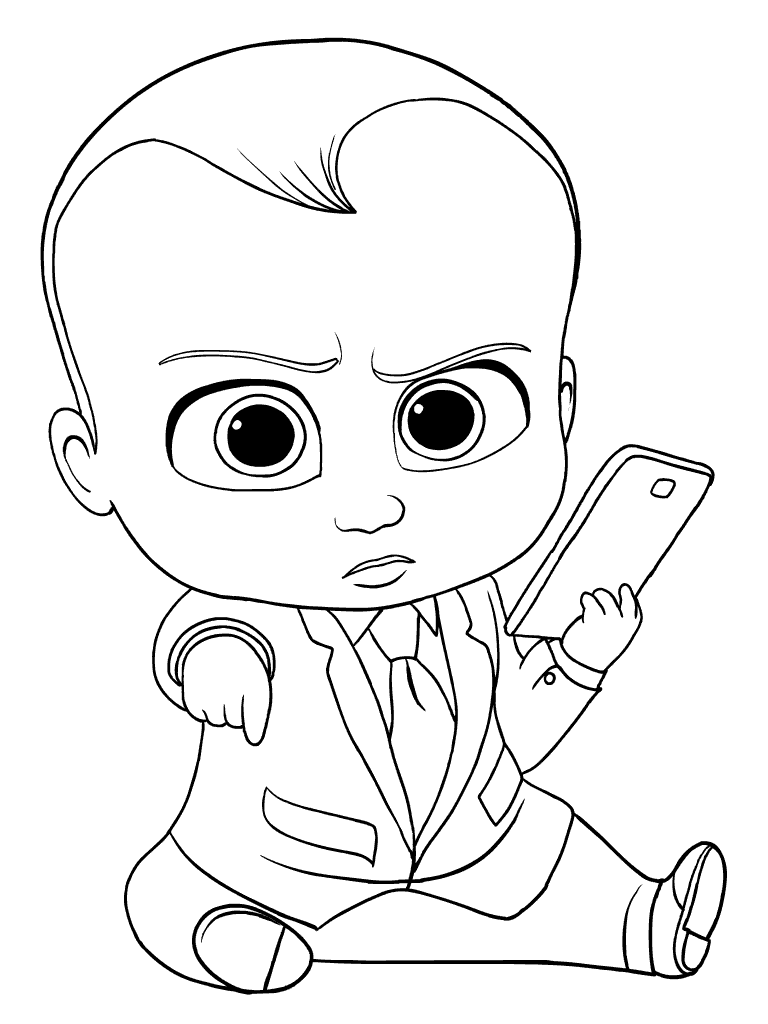 The Boss Baby Coloring Pictures