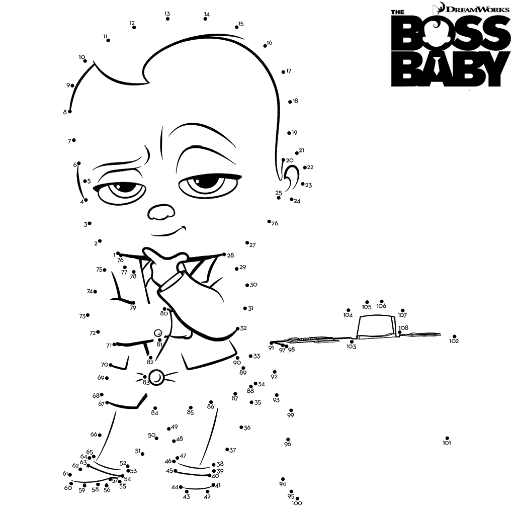 15 Free Printable The Boss Baby Coloring Pages