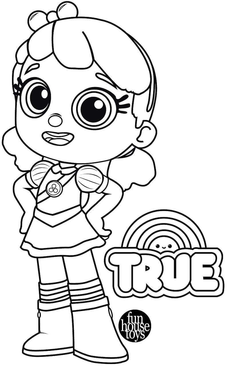 True From True and The Rainbow Kingdom Coloring Pages
