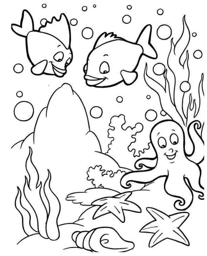 Under The Sea Coloring Pages For Preschoolers