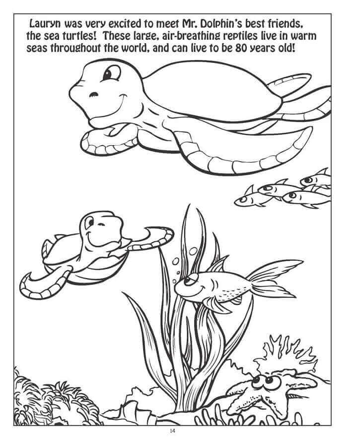 Under The Sea Coloring Printables