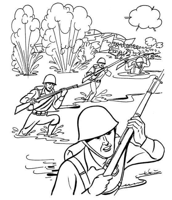 Veterans Day Coloring Pages PDF