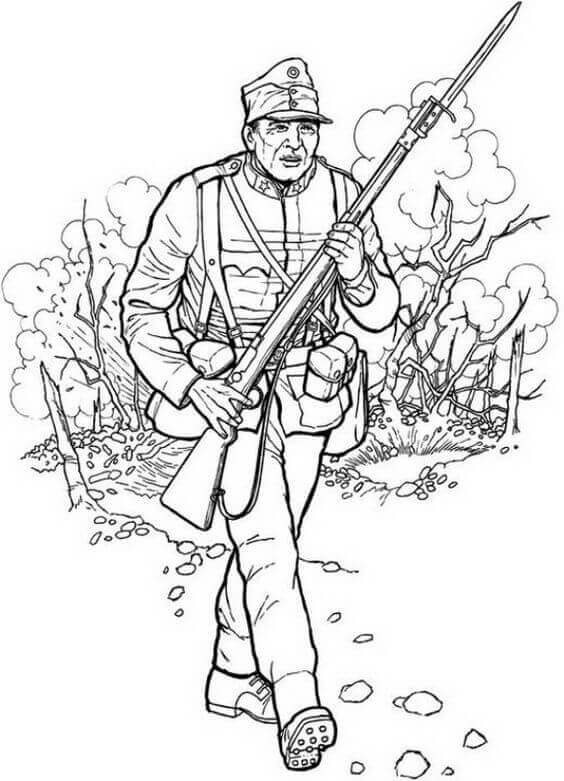 Veterans Day Coloring Sheets Printable