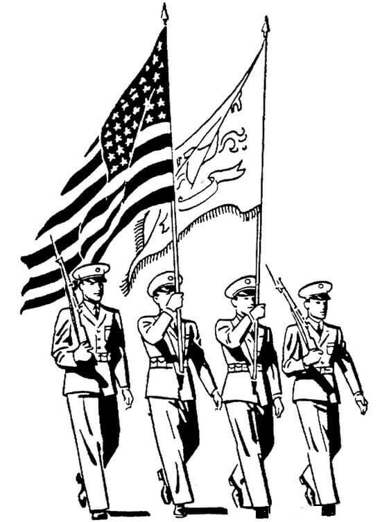 Veterans Day Parade Coloring Pages