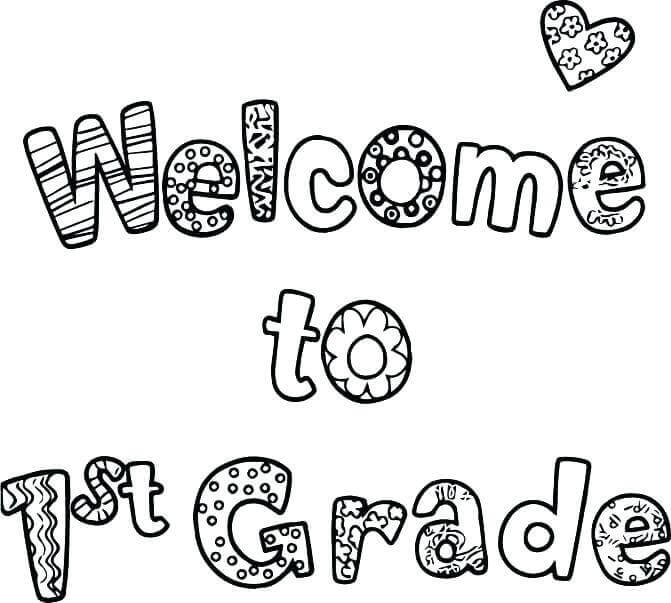 Welcome To First Grade Coloring Pages