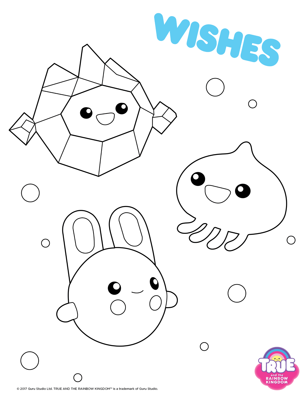 Wishes From TRK Colouring Pages