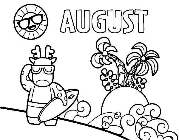 August Coloring Sheets