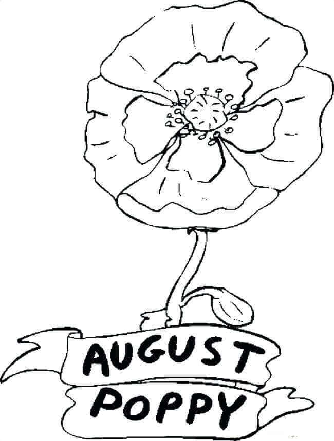 August Month Coloring Pages