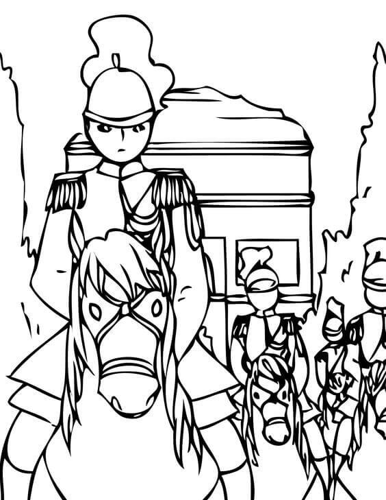 Bastille Day Coloring Pages