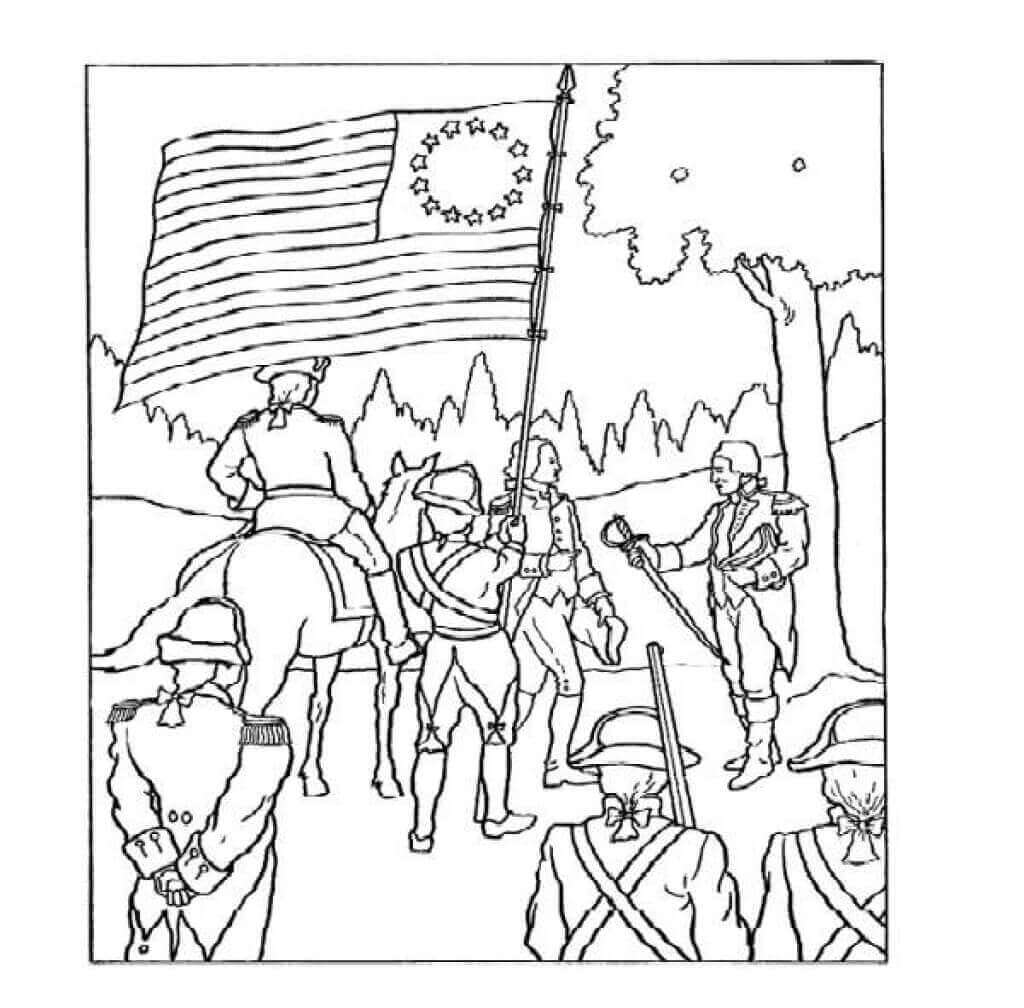 Bennington Battle Day Coloring Pages