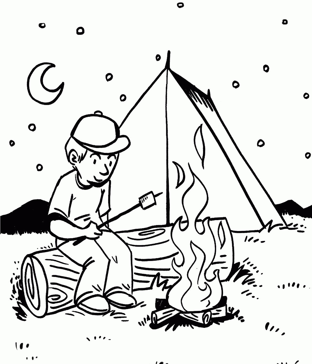 Camping Coloring Images
