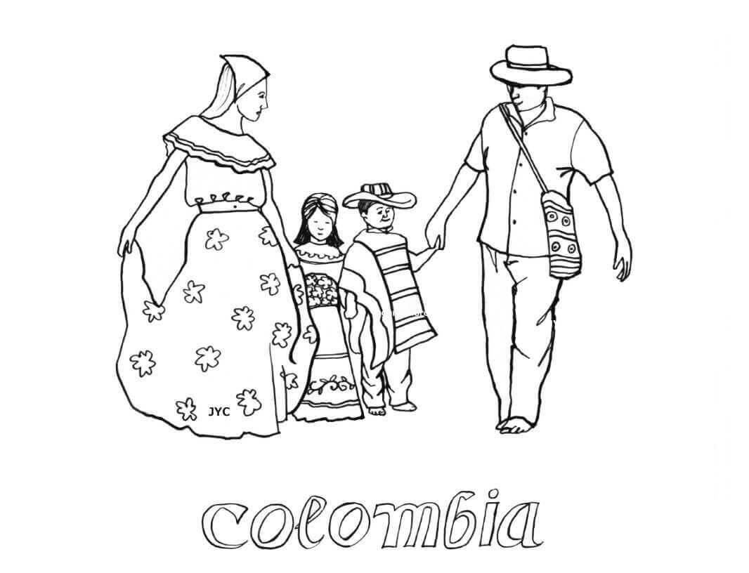 Columbia Independence Day Coloring Pages