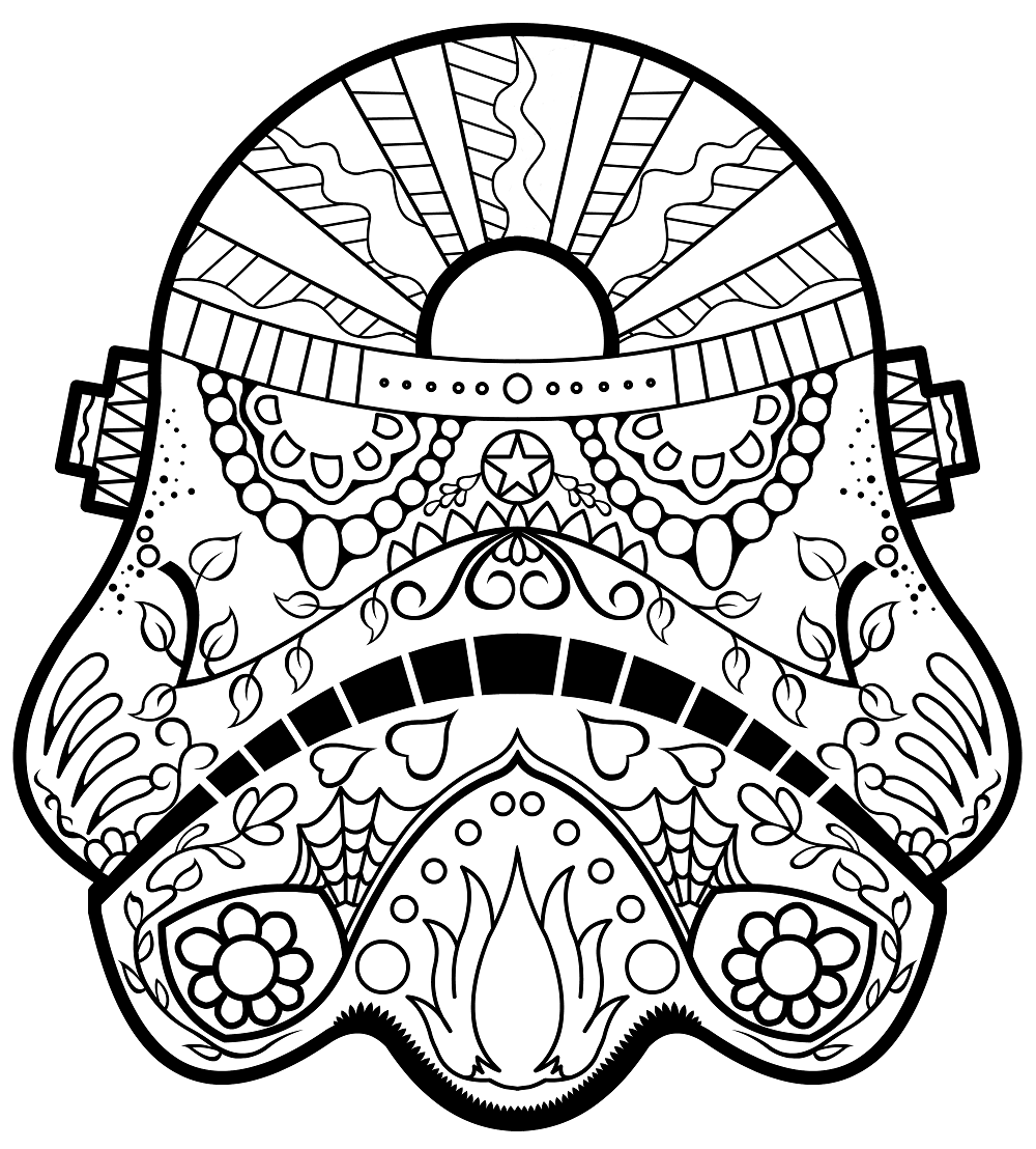 Darth Vader Day Of The Dead Coloring Page