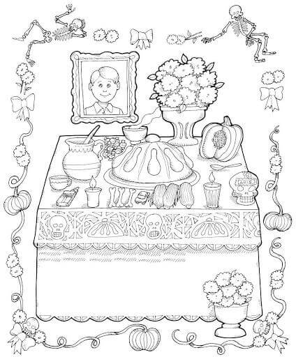 - Free Printable Day Of The Dead Coloring Pages