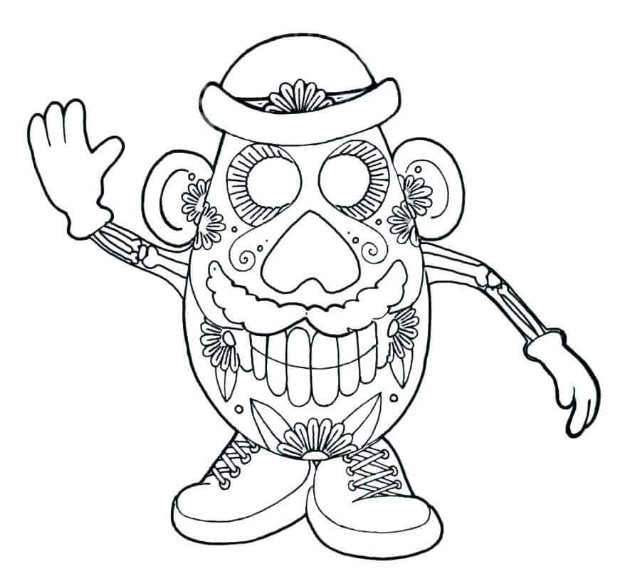 Dia de Muertos Coloring Pages PDF