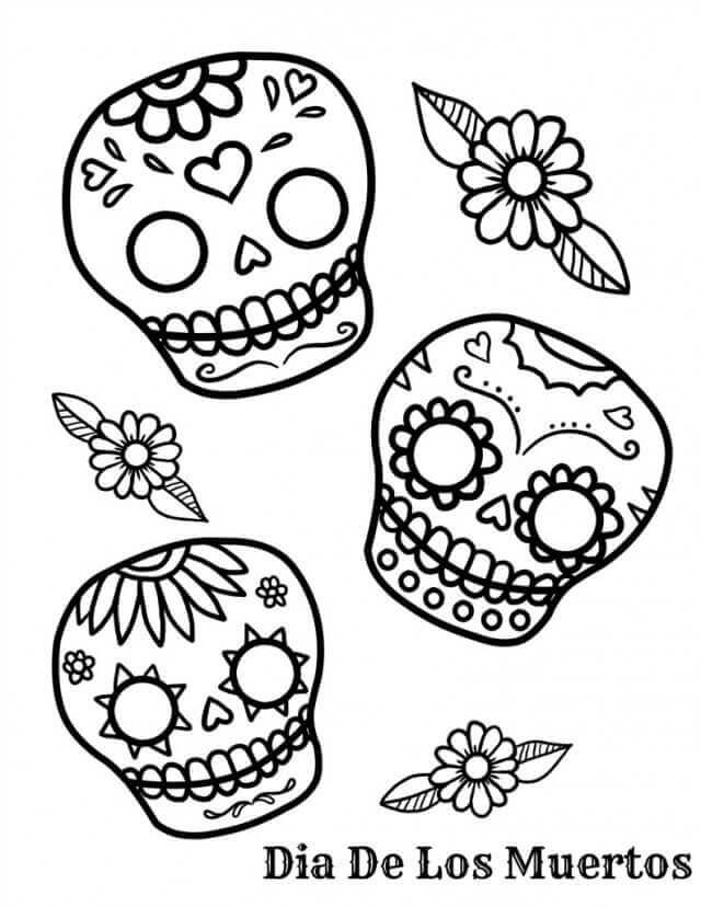 Dia de Muertos Coloring Pages
