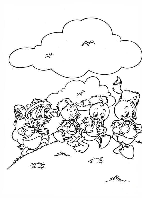 Disney Hiking Coloring Page