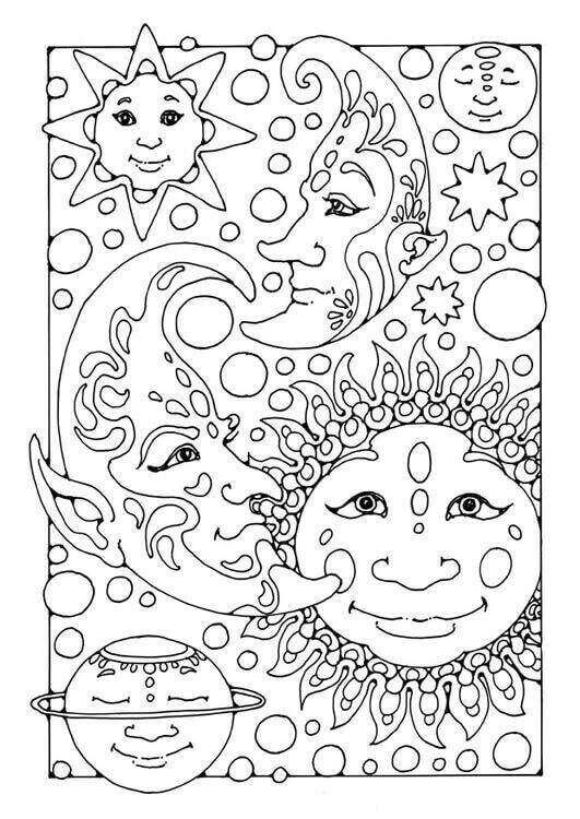 Eclipse Coloring Pages To Print