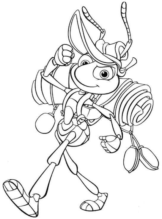 Flik Camping Coloring Picture