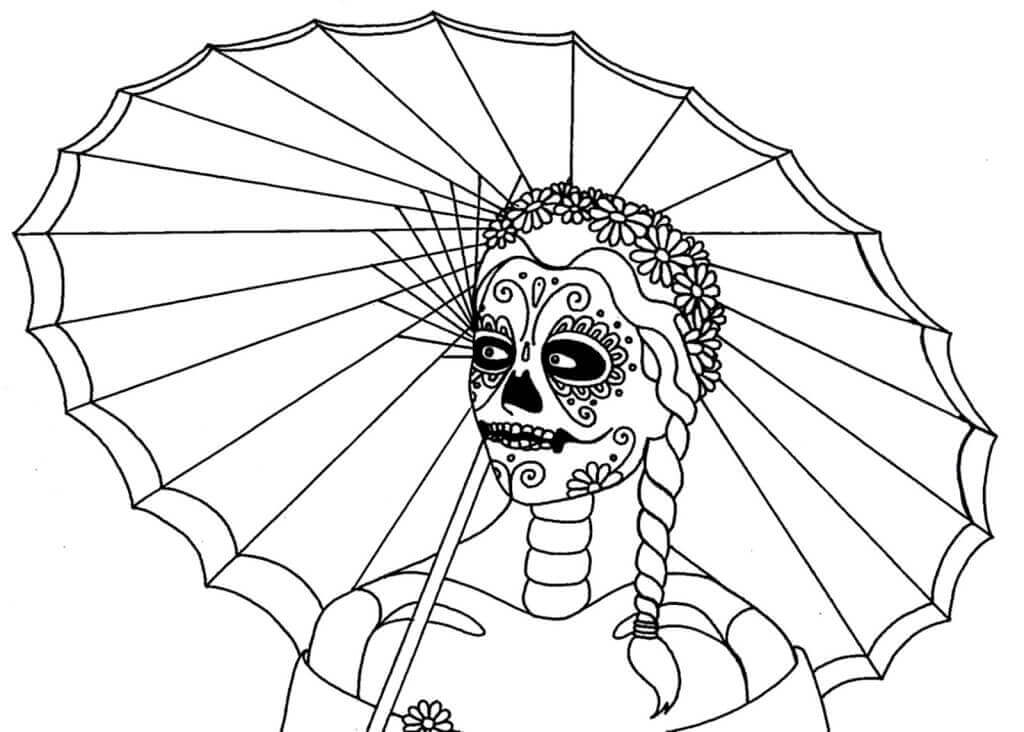 Free Printable Dia de Muertos Coloring Pages