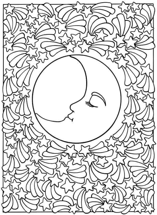 Free Printable Lunar Eclipse Coloring Pages