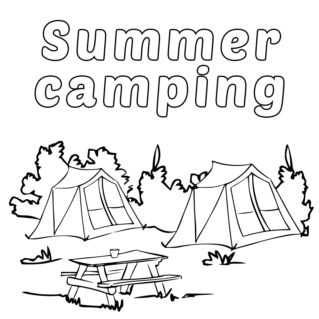 Free Printable Summer Camping Coloring Pages