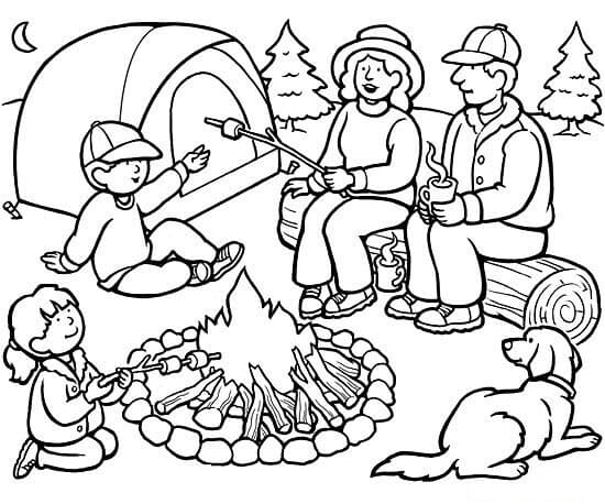Happy Camper Coloring Pages