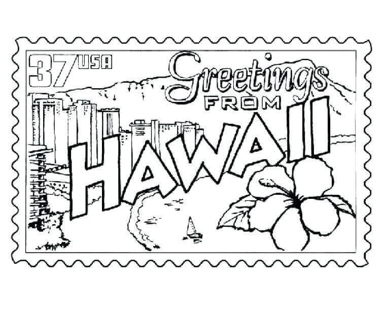 Hawaiian Statehood day Coloring Pages