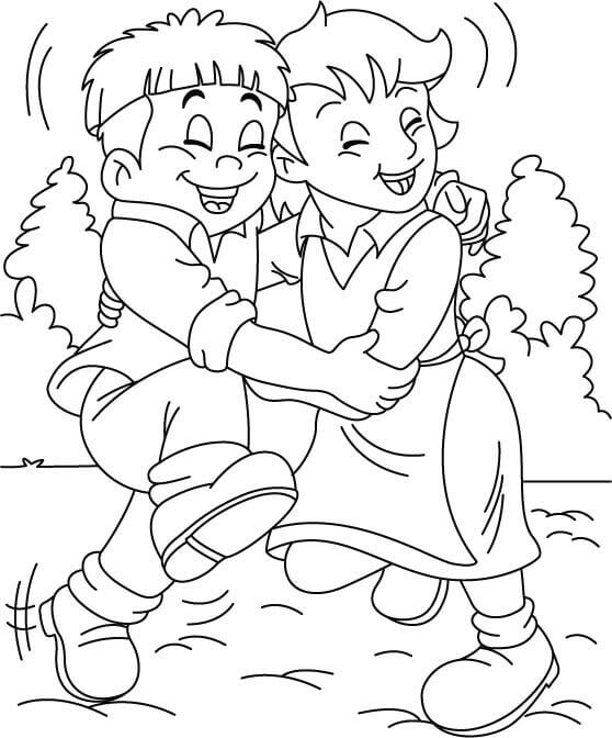 International Day Of Friendship Coloring Pages