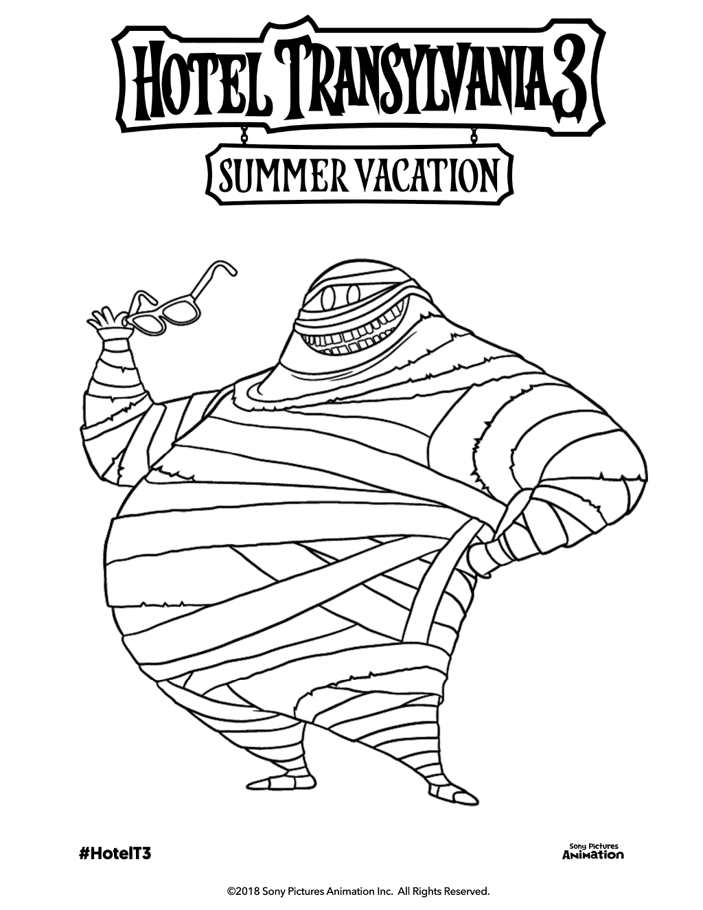 Mummy Murray Hotel Transylvania 3 Coloring Pages