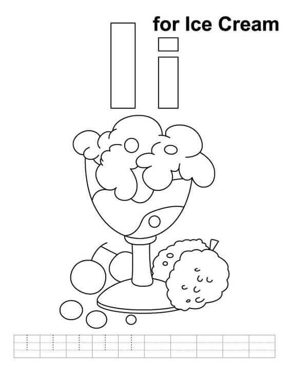 National Ice Cream Day Coloring Pages